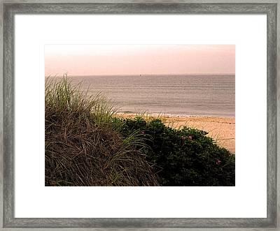 Block Island Beach Framed Print by Dawn Romine