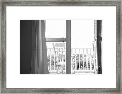 Block Island Beach House View Framed Print by Diane Diederich