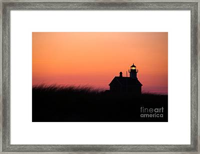 Block Island North Lighthouse Framed Print by Diane Diederich