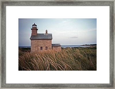 Block Island North West Lighthouse Framed Print by Skip Willits
