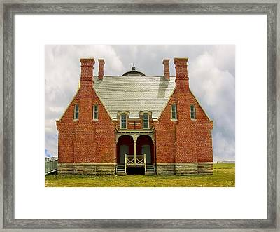 Block Island Southeast Light -back View Framed Print by Lourry Legarde