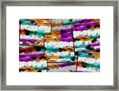 Block Party 1 Framed Print