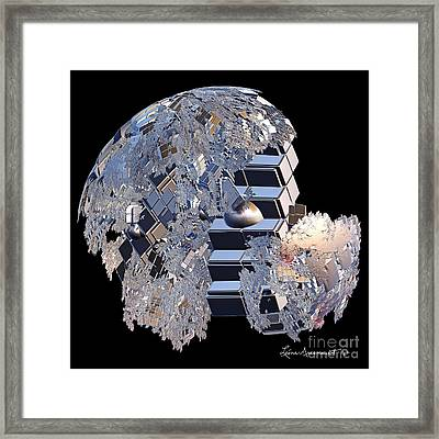 Blockhead Framed Print by Leona Arsenault