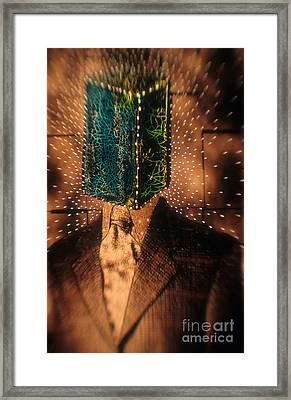 Blockhead Framed Print