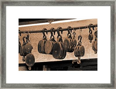 Blocks In The Boatyard Framed Print