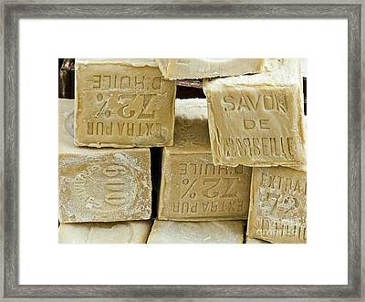 Blocks Of Soap Framed Print by Martyn F. Chillmaid