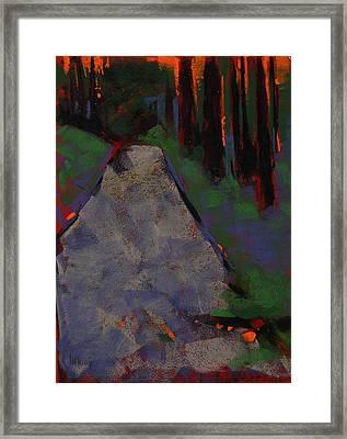 Bloedel Road Framed Print by Mary McInnis