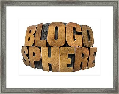 Blogosphere  Framed Print
