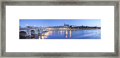 Blois Loire Valley Panorama Twilight  Centre France Framed Print by Colin and Linda McKie