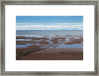 Blomiden Park On The Minas Basin In The Bay Of Fundy Framed Print by Barbara Eckstein