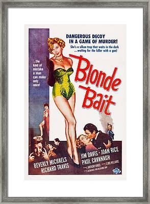 Blonde Bait, Beverly Michaels, 1956 Framed Print