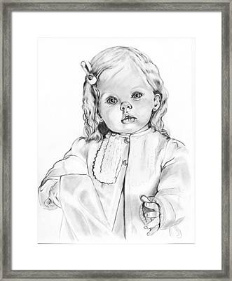 Blonde Doll Framed Print by Barb Baker
