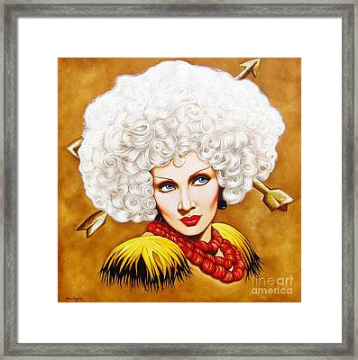 Framed Print featuring the painting Blonde Venus by Joseph Sonday