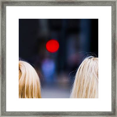 Blondes Are Not Allowed 2 - Featured 3 Framed Print by Alexander Senin