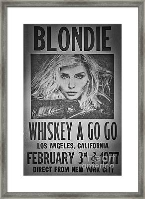 Blondie At The Whiskey A Go Go Framed Print