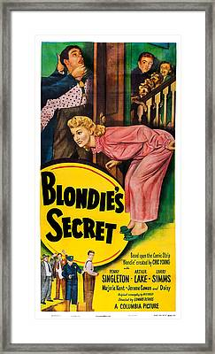 Blondies Secret, Us Poster, Top Framed Print