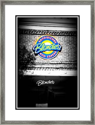 Blondies Framed Print by Shannon Wall