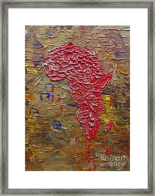 Blood Africa Framed Print by Jacqueline Athmann