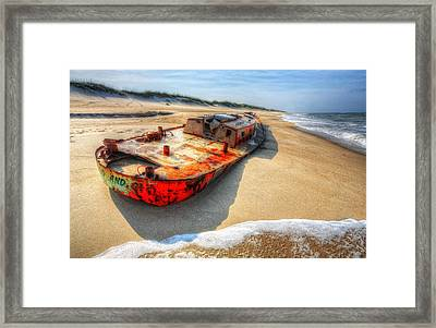 Blood And Guts I - Outer Banks Framed Print by Dan Carmichael