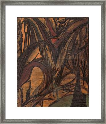 Blood And Rage Framed Print by Peyton King
