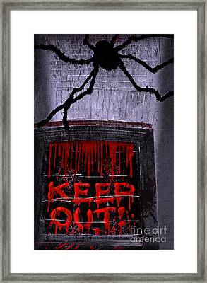 Blood And Spider Framed Print by Charline Xia