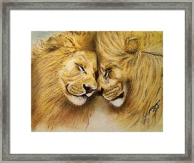 Blood Brothers Framed Print by Paula Steffensen