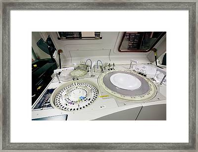 Blood Centrifuge Framed Print by Mauro Fermariello/science Photo Library