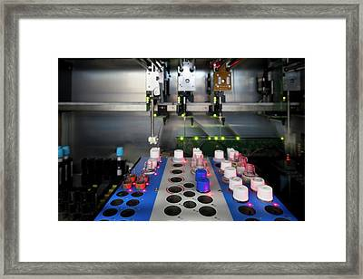 Blood Coagulation Testing Framed Print