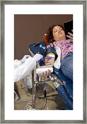 Blood Donation Clinic Framed Print by Jim West
