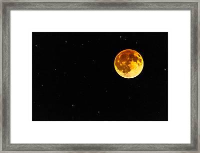Blood Eclipse Framed Print