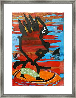 Blood In The Water Framed Print by Dan Koon