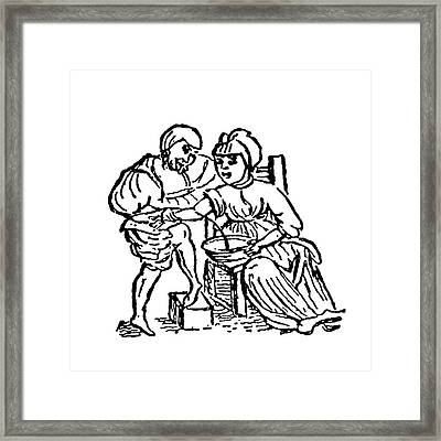 Blood Letting As A Cure Framed Print by Universal History Archive/uig