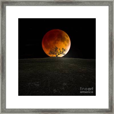 Blood Moon Framed Print by Aaron J Groen
