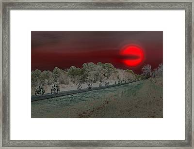 Blood Moon And Speed Framed Print by Nina Fosdick