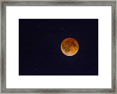 Blood Moon And Stars Framed Print
