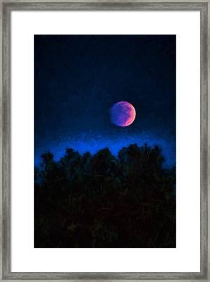 Blood Moon Digital Painting Framed Print by Vizual Studio