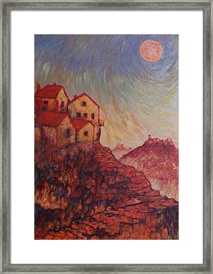Framed Print featuring the painting True Self Verses Ego False Self by Charles Munn