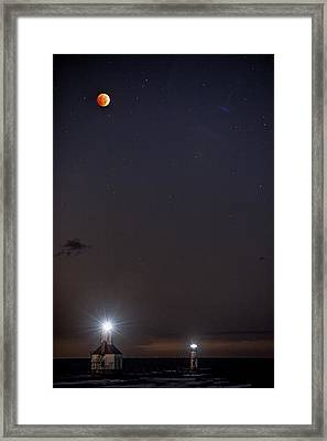 Blood Moon Over St Joe Framed Print