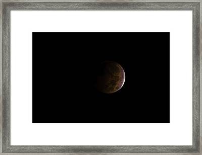 Framed Print featuring the photograph Blood Moon by Steven Santamour