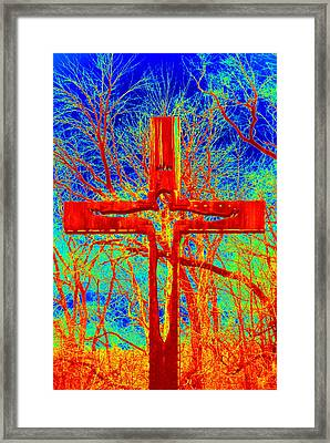 Framed Print featuring the photograph Blood On The Cross by Cathy Shiflett