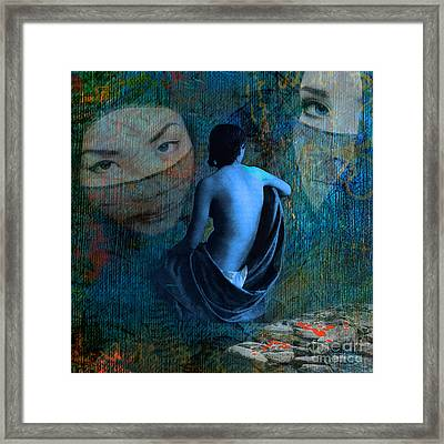 Blood On The Stones Framed Print