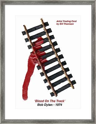 Blood On The Track Framed Print