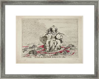 Blood On Thunder Fording The Red Sea Framed Print