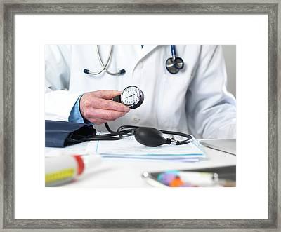 Blood Pressure Framed Print by Tek Image