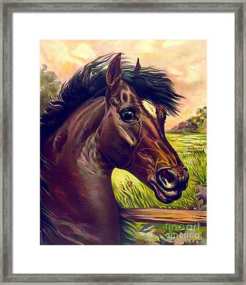Blood Prince 1893 Framed Print by Padre Art