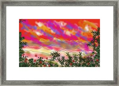 Framed Print featuring the painting Blood Rain  by Arjun L Sen