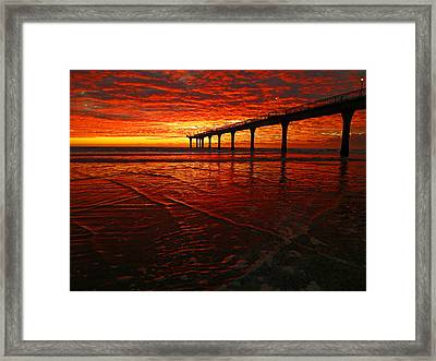 Blood Red Dawn Framed Print by Steve Taylor