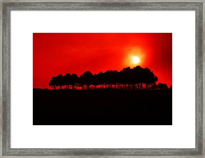 Blood Red Sky Framed Print by Aidan Moran