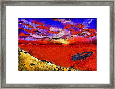 Blood River Framed Print by George Rossidis