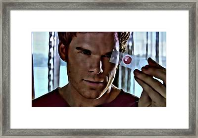 Blood Slide Dexter Framed Print